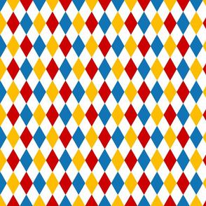 Big Top Bold Circus Diamond Pattern