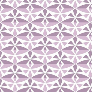 Ash of Roses Geometric Pattern Fabric