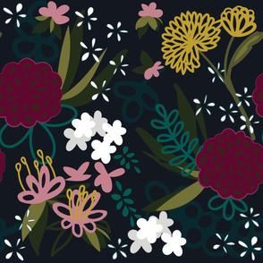 Moody Mauve Florals