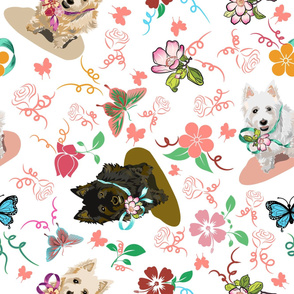 Western Terrier dogs pattern