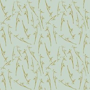 winter grasses - mint