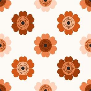 70s flower fabric - daisy fabric, retro 70s fabric, retro floral fabric, retro fabric, vintage 70s fabric, 70s style - retro