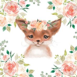 Floral fox peaches and cream floral