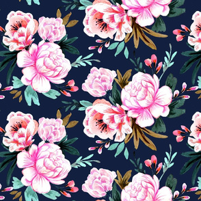 lush floral navy