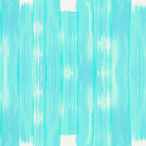 Aqua Seamless Brushstrokes on Vellum Background
