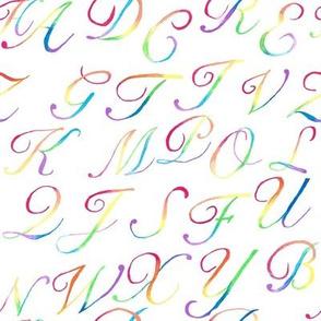Watercolor Alphabet Soup