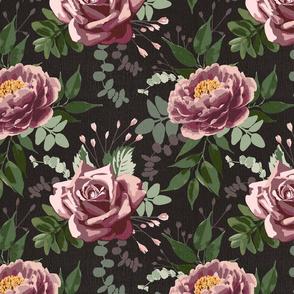 vintage flowers - dark