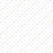 pastel rainbow lighter xl hearts