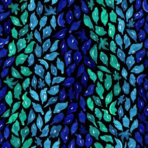 Abstract stripy leaf pattern