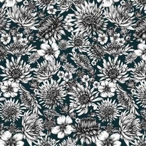 Ink flower collage