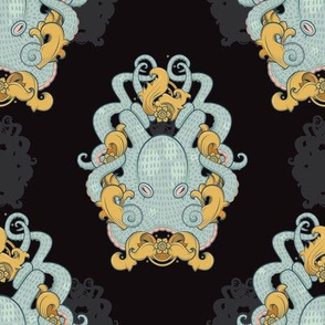 JLouden_Octopus Frame Pattern_Black