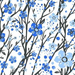 Blue Trellis Flowers