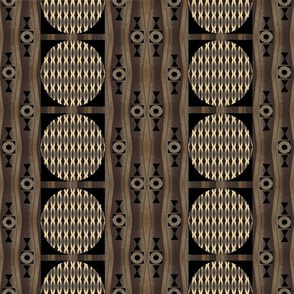 Primal Patterns In Gold and Brown and Black 2