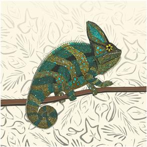 veiled chameleon pearl 18 inch panel