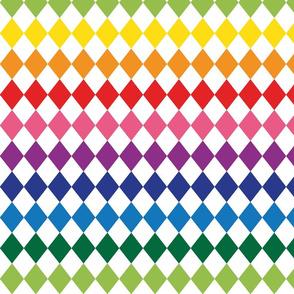 Rainbowharlequin White