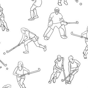 Large Scale Field Hockey on White
