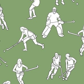 Large Scale Field Hockey on Green