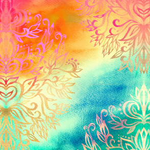 Watercolor Wonderland non-repeating print