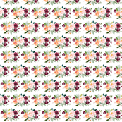 paprika floral small - 1 inch floral