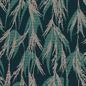 FRENCH VINTAGE PALM TEAL