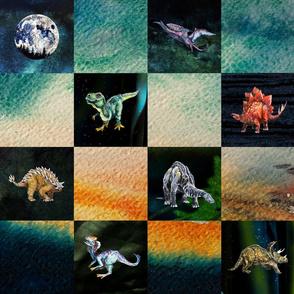 Quiltosaurus - Dinosaur Print