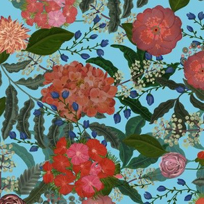BAROQUE BLOOMS blue