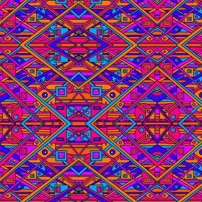 Take it too the max retro geometric pattern