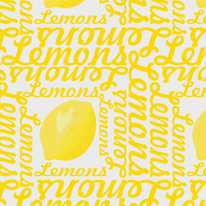 Lemons with Typographic Text