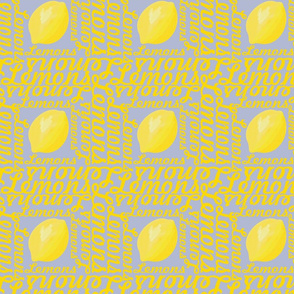 Typographic Lemons on Gray