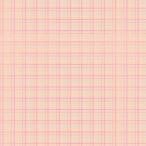 Popsicle plaid - peach
