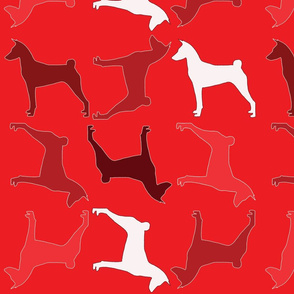 Fabric Pattern Red