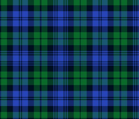 "Campbell tartan, 12"" bright fabric by weavingmajor on Spoonflower - custom fabric"