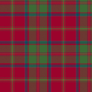 "MacDonald of Glencoe tartan - 10"" muted"