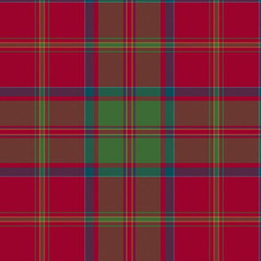 "MacDonald of Glencoe tartan - 12"" muted"