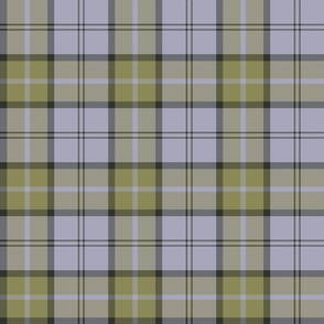 "Dunbar tartan, 6"", custom colorway muted gold / lavender grey"