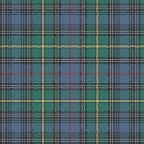 "MacLeod of Skye tartan, 6"" muted with grey stripes"