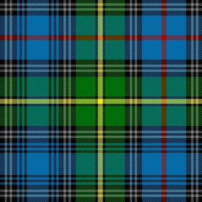 "MacLeod of Skye tartan, 10"" bright with grey stripes"