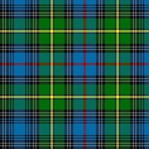 "MacLeod of Skye tartan, 7"" bright with grey stripes"