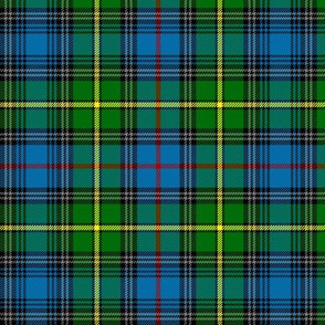 "MacLeod of Skye tartan, 6"" bright with grey stripes"