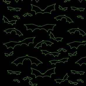 Green Neon Bats