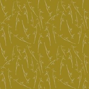 winter grasses - mustard