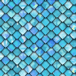 dragon scales - blue 2 - C19BS