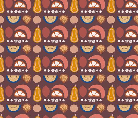 Fruit Basket Purple fabric by littleclementinestudio on Spoonflower - custom fabric