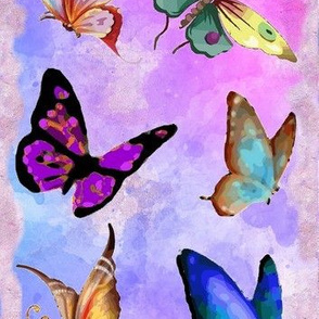 Colorful Watercolor Butterflies