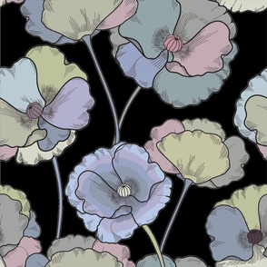 Moody Florals on Black Design Challenge