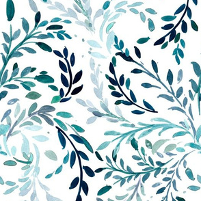 Willow Vines Teal