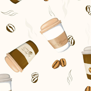 coffee to go pattern