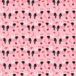 Black Labrador Love Bug - SMALL fabric love dogs, cupid dog, labrador fabric, black lab fabric