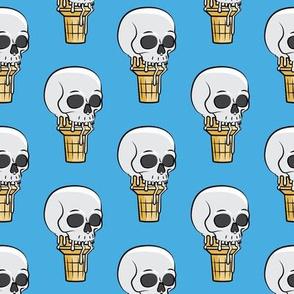 skull ice cream cones - blue - LAD19