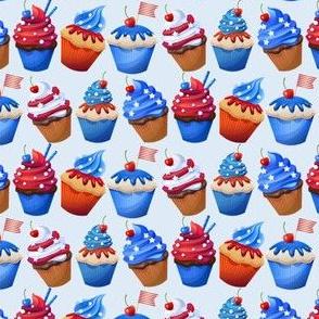 cupcakes patriotic